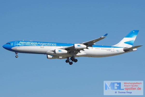 05.04.2015 LV-CSX Aerolineas Argentinas A340-313
