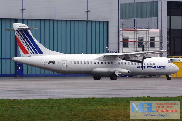 21.01.2014 F-GPOD Airlinair / Air France ATR 72-202QC cn361