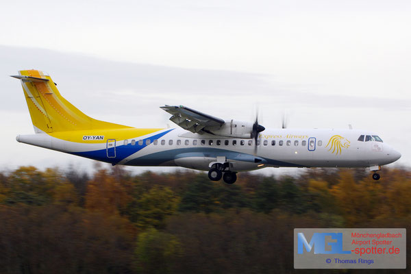 07.11.2015 OY-YAN Express Airways ATR 72-500 cn570