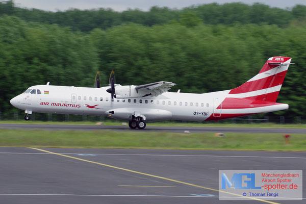 24.05.2016 OY-YBF  Air Mauritius ATR 72-500 cn926