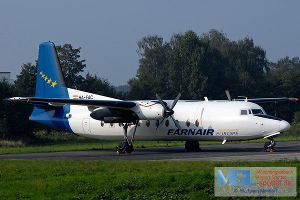 25.08.2007 HA-FAC Farnair Europe Fokker F-27-500
