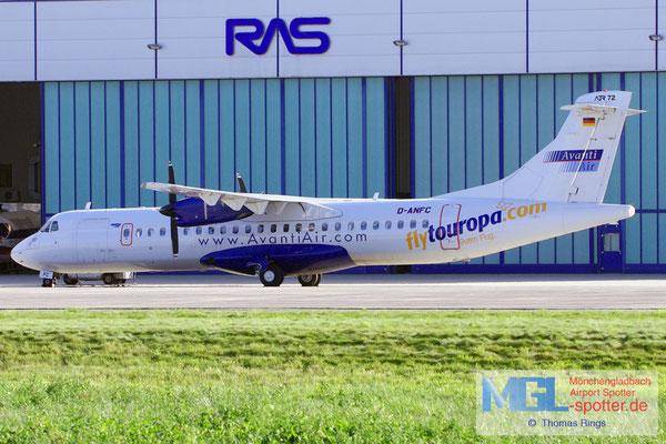 01.09.2012 D-ANFC flytouropa.com / Avanti Air ATR 72-202 cn237