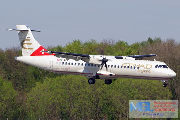 17.04.2014 HB-ACA Darwin Airline / Etihad Regional ATR 72-500 cn660