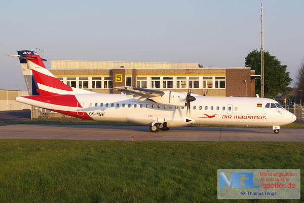 01.05.2016 OY-YBF  Air Mauritius ATR 72-500 cn926