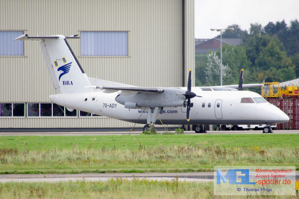 21.09.2014 7O-ADY Yemenia / Bluebird Aviation DHC-8-102