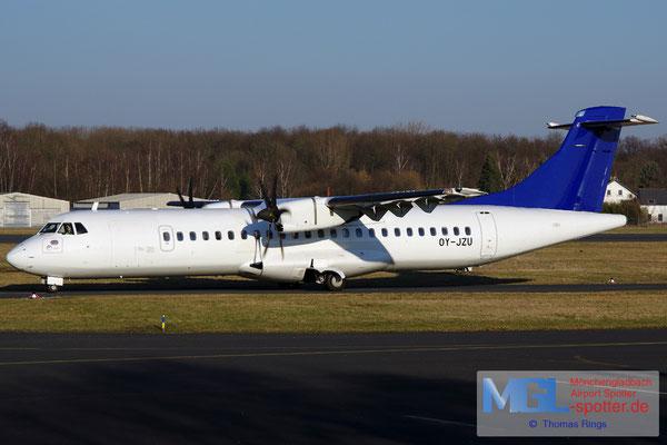 13.02.2017 OY-JZU Jettime / (SAS) ATR 72-500 cn723