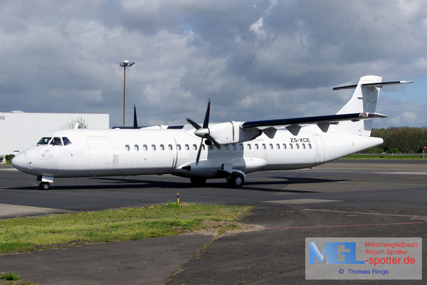15.04.2014 ZS-XCE Solenta Aviation ATR 72-202F cn396