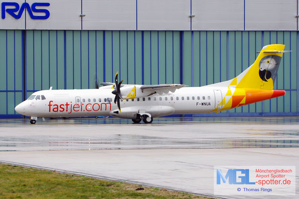 21.12.2018 F-WNUA ATR / Fastjet ATR 72-600 cn1047