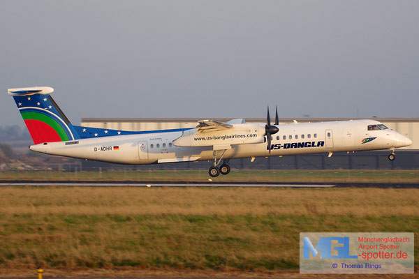 14.03.2014 D-ADHR Augsburg Airways / US-Bangla DHC-8-402Q