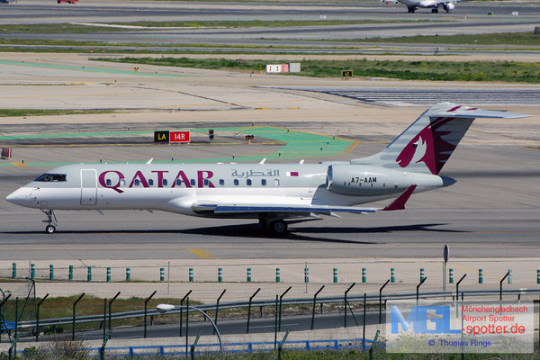 04.04.2015 A7-AAM Qatar Amiri Flight Bombardier Global Express
