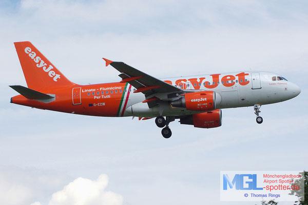 22.06.2014 G-EZIW easyjet / Linate-Fiumicino A319-111