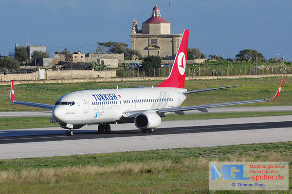 01.01.2014 TC-JHB Turkish Airlines B737-8F2/W
