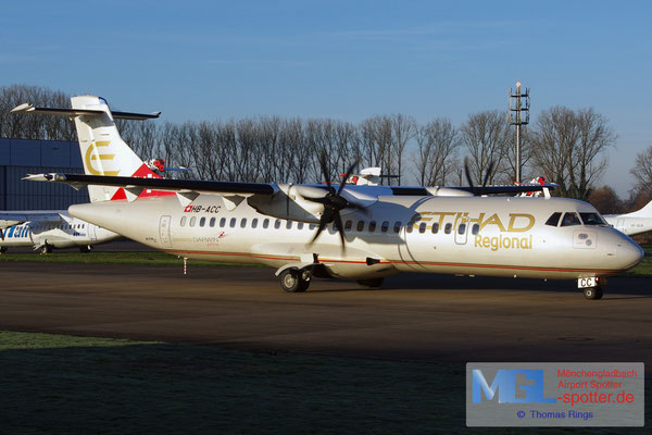05.01.2015 HB-ACC Darwin Airline / Etihad Regional ATR 72-500 cn664