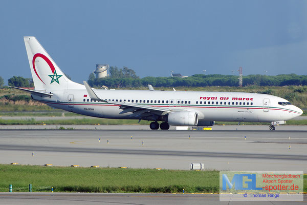08.10.2014 CN-RNW Royal Air Maroc B737-8B6/W