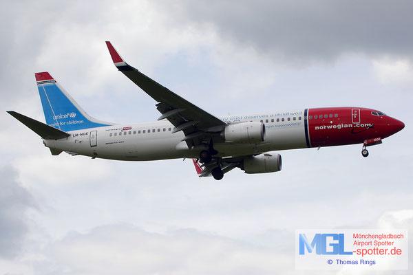 22.06.2014 LN-NGE Norwegian / Unicef B737-8JP/W