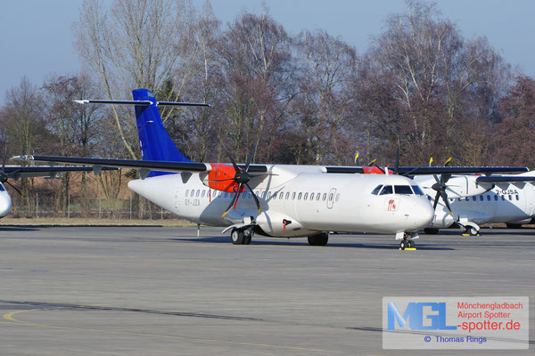 26.01.2017 OY-JZA Jettime / (SAS) ATR 72-600 cn1110