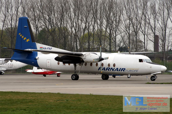 11.04.2007 HA-FAF Farnair Europe Fokker F-27-500F