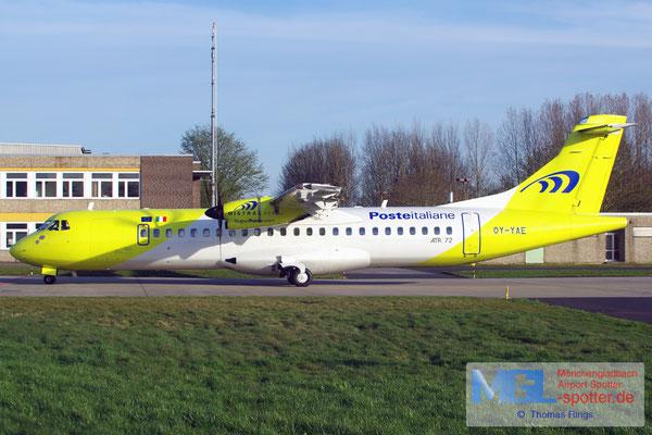 12.04.2015 OY-YAE Mistral Air / Poste Italiane ATR 72-500 cn705