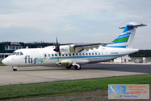 19.08.2015 OY-YAA NAC / Villa Air - flyme ATR 42-500 cn606