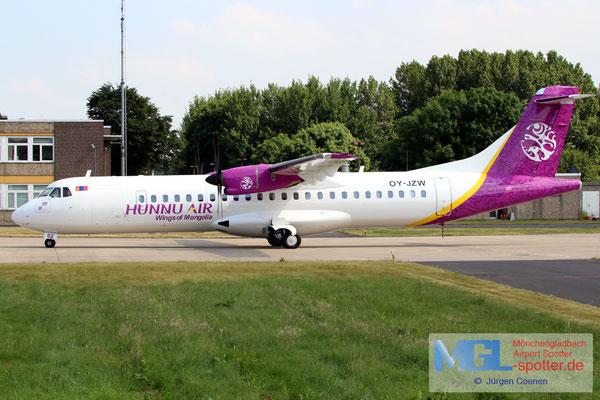 01.06.2017 OY-JZW Jettime / Hunnu Air ATR 72-500 cn773