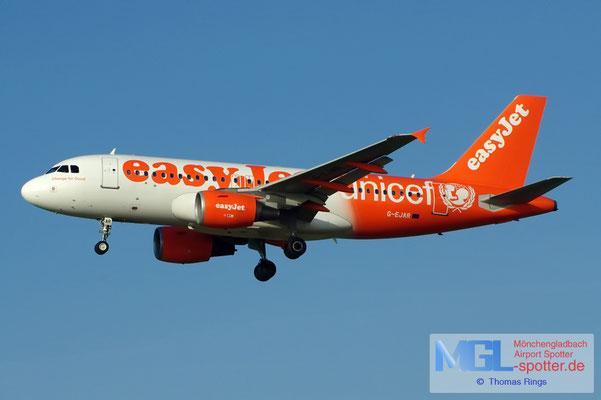 17.02.2013 G-EJAR easyjet / unicef A319-111