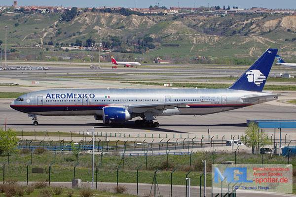 04.04.2015 N745AM AeroMexico B777-2Q8ER