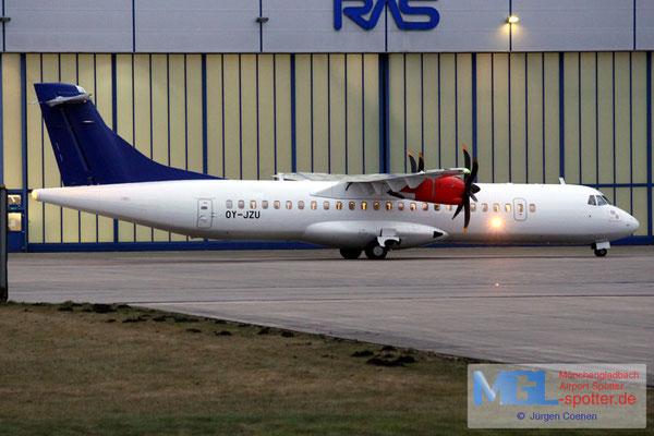 17.11.2016 OY-JZU Jettime / (SAS) ATR 72-500 cn723