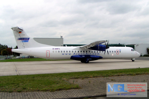 30.09.2005 D-ANFC AVANTI AIR ATR72-300