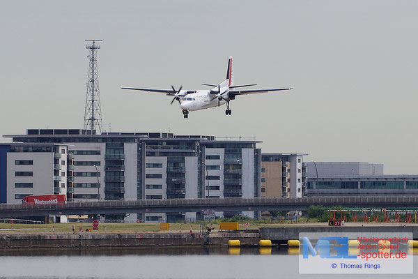 23.06.2014 OO-VLL Cityjet Fokker 50
