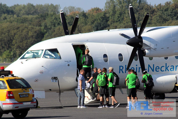 09.09.2016 D-CMHC Dornier Do-328-110 Rhein-Neckar-Air / Borussia MG