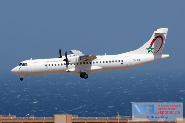 08.07.2014 CN-COI Royal Air Maroc Express ATR 72-600