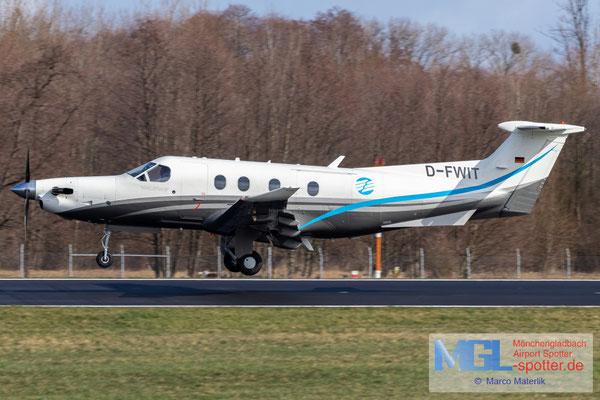 15.03.2021 D-FWIT ProAir Aviation Pilatus PC-12 NG