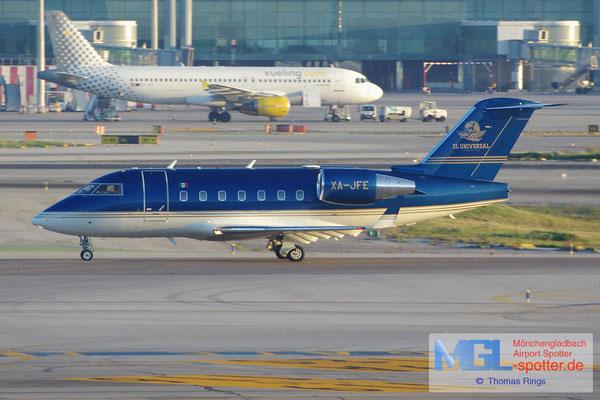 08.10.2014 XA-JFE El Universal Challenger 604