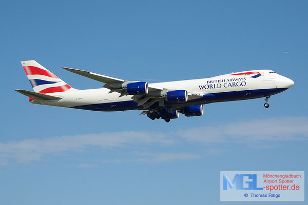 19.05.2013 G-GSSD British Airways World Cargo B747-8F
