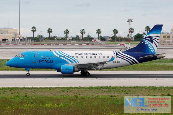 02.01.2014 SU-GDI Egyptair Express ERJ-170LR