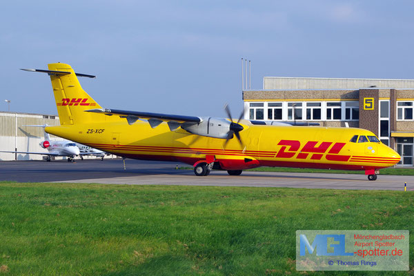 12.09.2014 ZS-XCF Solenta Aviation / DHL ATR 72-201F cn227