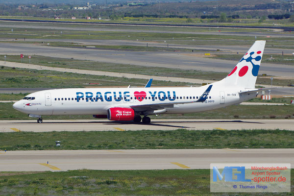 05.04.2015 OK-TVX Travel Serice / Prague loves you B737-8Z9/W