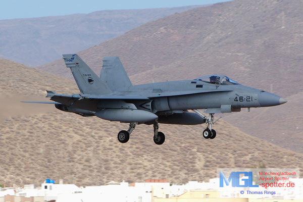 08.07.2014 C.15-93 46-21 Spain Air Force EF-18A+ Hornet