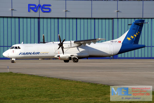 14.04.2007 HB-AFJ Farnair Europe ATR 72-202F cn154