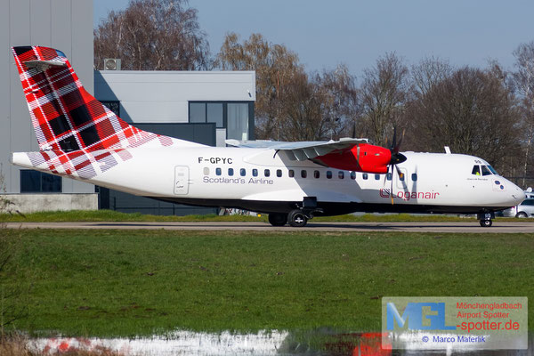 17.03.2020 F-GPYC Loganair ATR 42-500 cn484