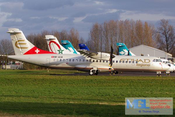 15.03.2014 HB-ACB Darwin Airline / Etihad Regional ATR 72-500 cn662