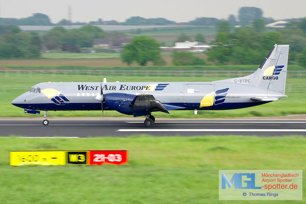 20.05.2013 G-BTPC West Air Europe BAe ATPF