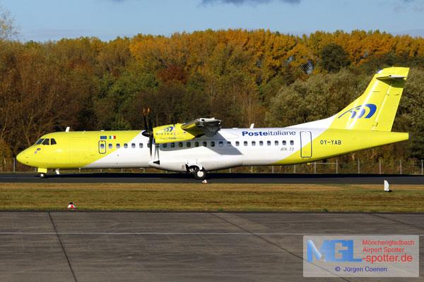 02.11.2016 OY-YAB Mistral Air / Poste Italiane ATR 72-500 cn588