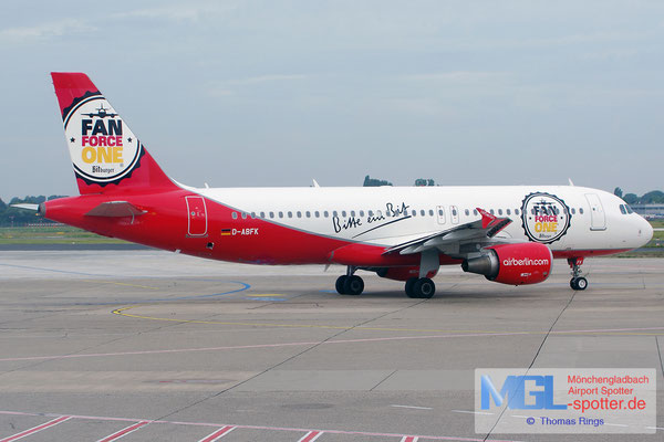 28.06.2014 D-ABFK airberlin / Bitburger Fan Force One A320-214