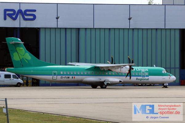 29.06.2021 EI-FAW Stobart Air / Aer Lingus Regional ATR 72-600 cn1122