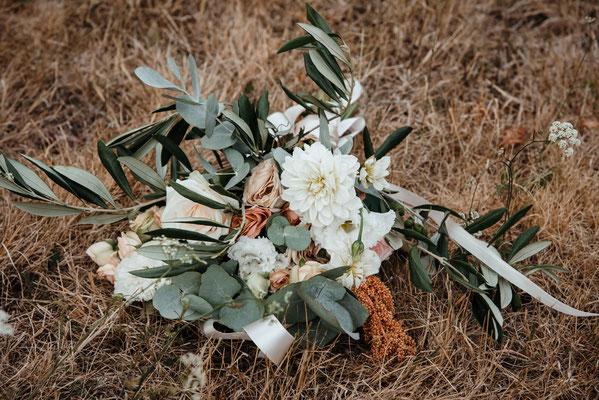 Bouquet de la mariée LittleRoze Photography  domaine de Coulonge