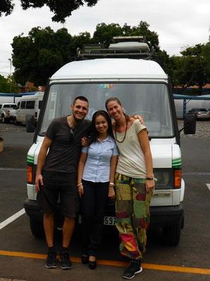 Laura unsere liebe Betreuerin bei Mercedes!