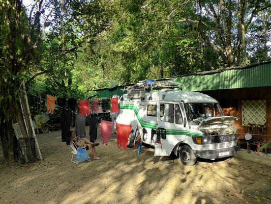 Unser Camp im Hinterhof