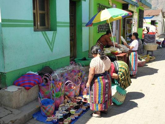 Farbiger traditioneller Markt