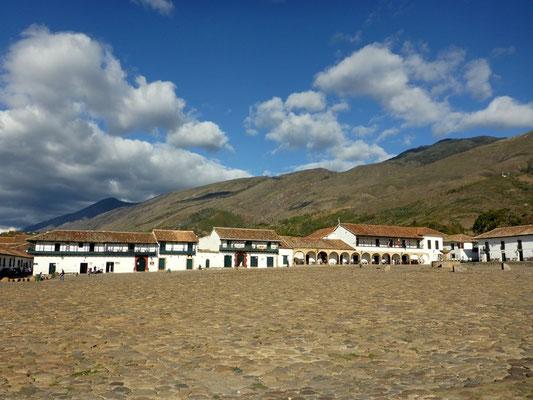 Riesige Plaza in Villa de Leyva